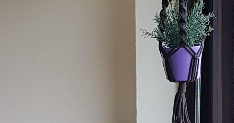 Makramowy kwietnik