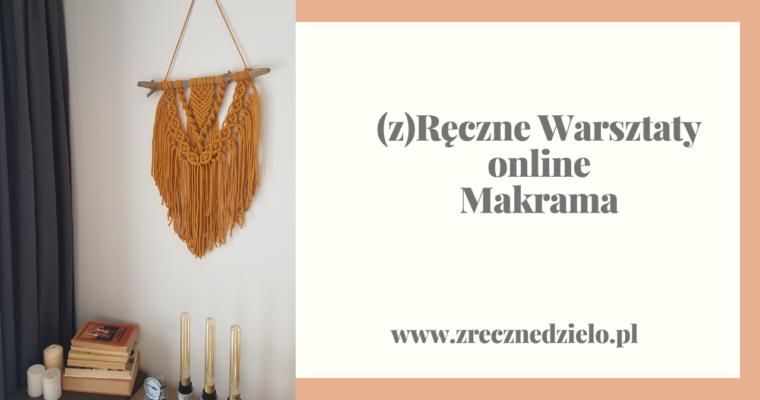 (z)Ręczne Warsztaty online – makrama